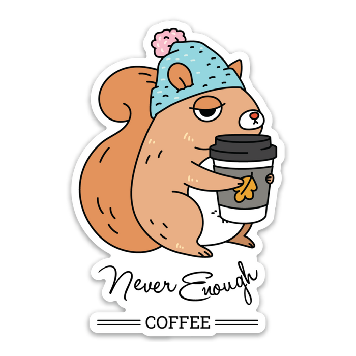 Noristudio | Never Enough Coffee Vinyl Die-Cut Sticker | Script + Sea