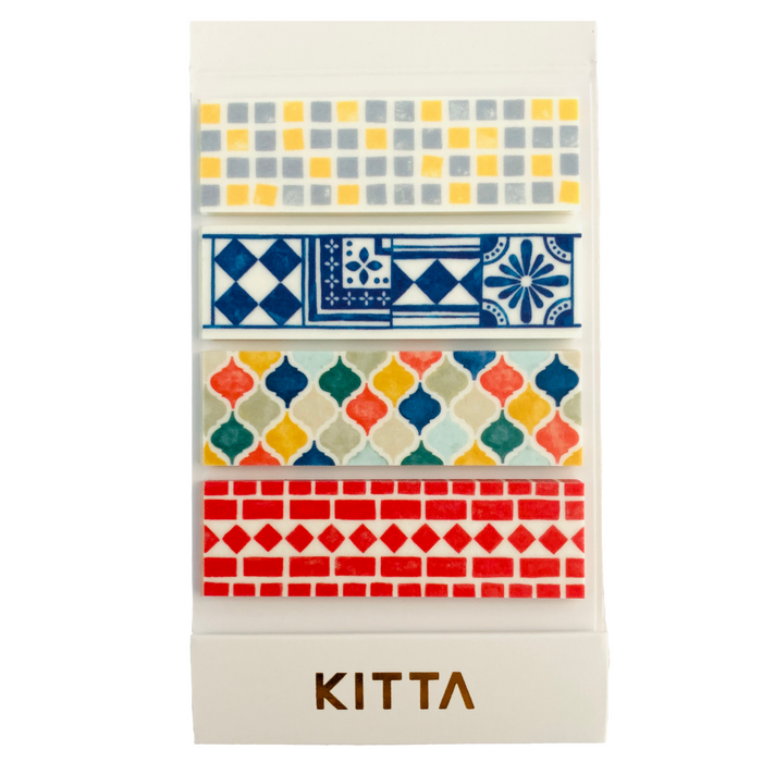 KITTA | Tile Washi Tape | Script + Sea