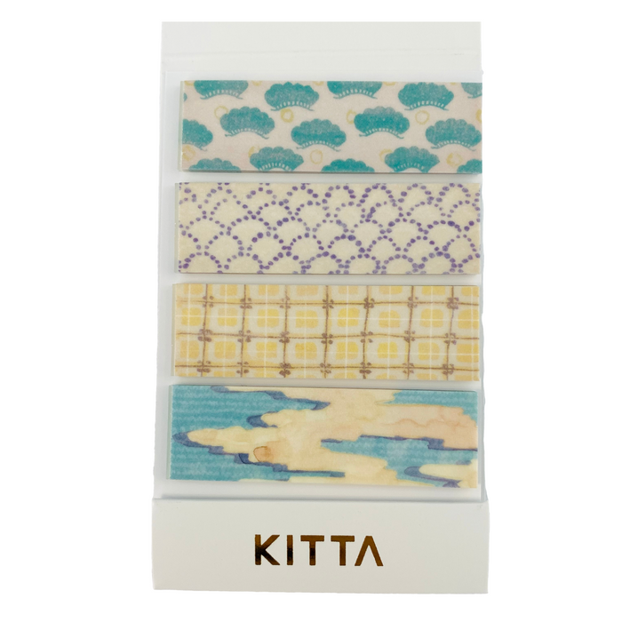 KITTA | Wagara Japanese Pattern Washi Tape | Script + Sea