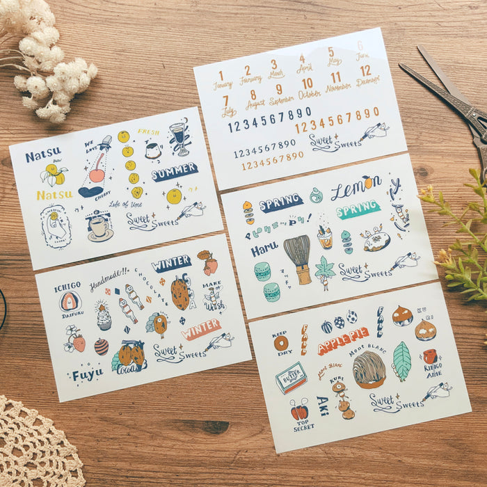 Dimanche | Four Seasons Print-On Stickers | Script + Sea