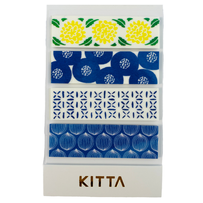 KITTA | Utsuwa Vase Washi Tape | Script + Sea