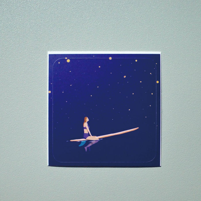 Starry Night Surfer Girl