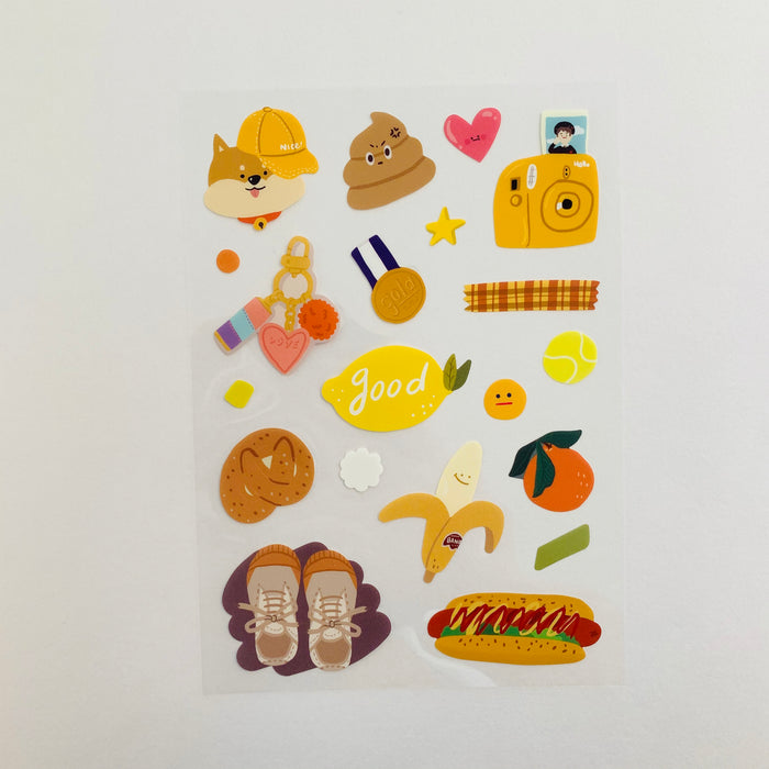 Oh?! Ssumthing! | Brown Sticker Sheet | Script + Sea
