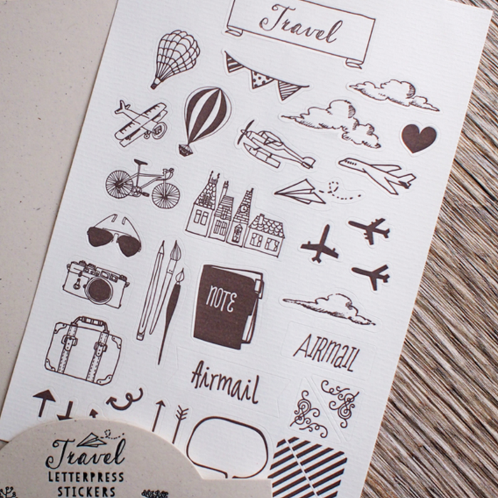 ditto ditto | Travel Sticker Sheet | Script + Sea