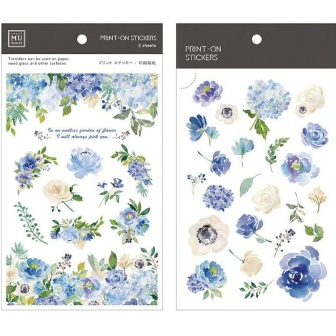 MU Lifestyle | Garden of Flowers Print-On Stickers | Script + Sea