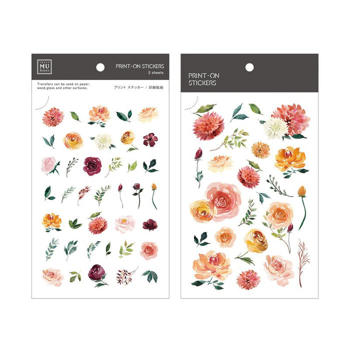MU Lifestyle | Spring Floral Print-On Stickers | Script + Sea