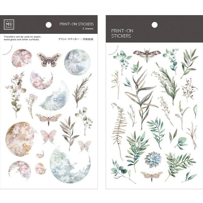 MU Lifestyle | Fantasy Floral Print-On Stickers | Script + Sea