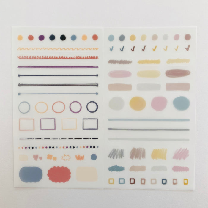 Oh?! Ssumthing! | Pencil 1 Sticker Sheet | Script + Sea