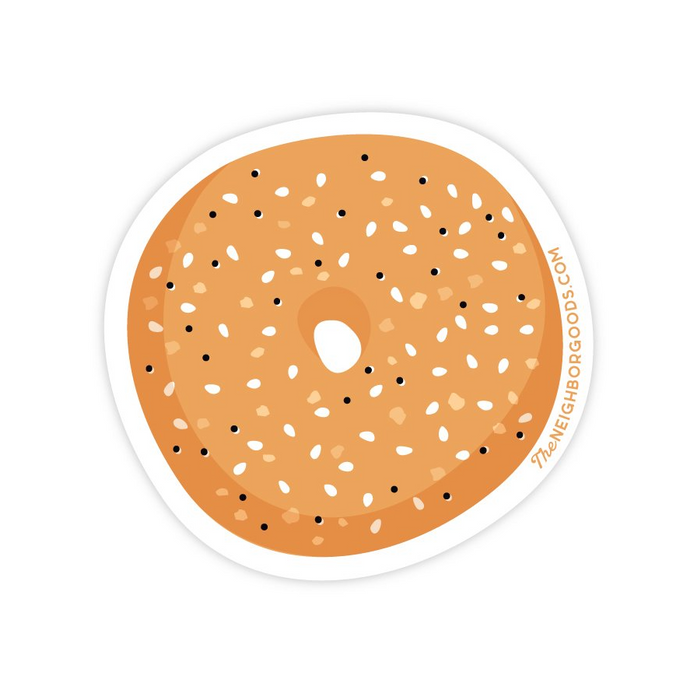 The Neighborgoods | Bagel Vinyl Die-Cut Sticker | Script + Sea