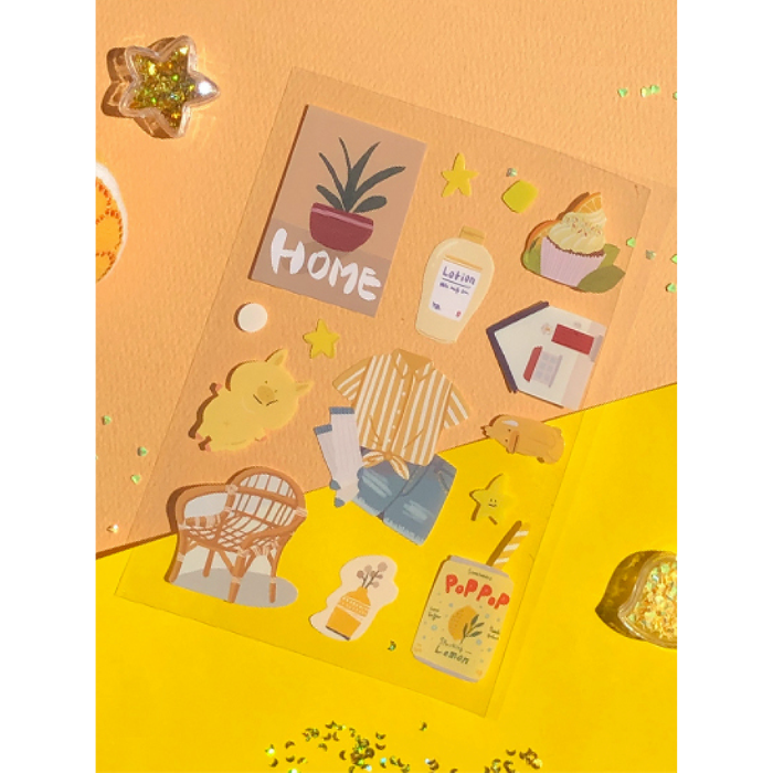 Oh?! Ssumthing! | Yellow Sticker Sheet | Script + Sea
