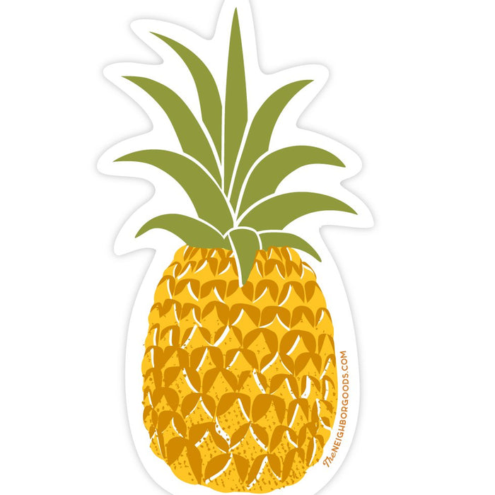 The Neighborgoods | Pineapple Vinyl Die-Cut Sticker | Script + Sea