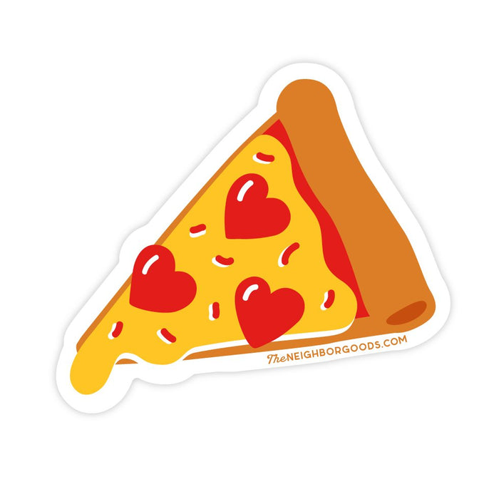 The Neighborgoods | Pizza Slice Vinyl Die-Cut Sticker | Script + Sea