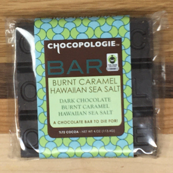 Chocopologie Burnt Caramel Hawaiian Sea Salt Dark Chocolate