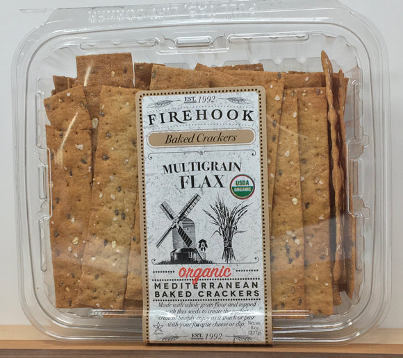 Firehook Multigrain Flax Baked Crackers