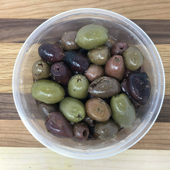 Mixed Pitted Olives ($10.99/lb.)