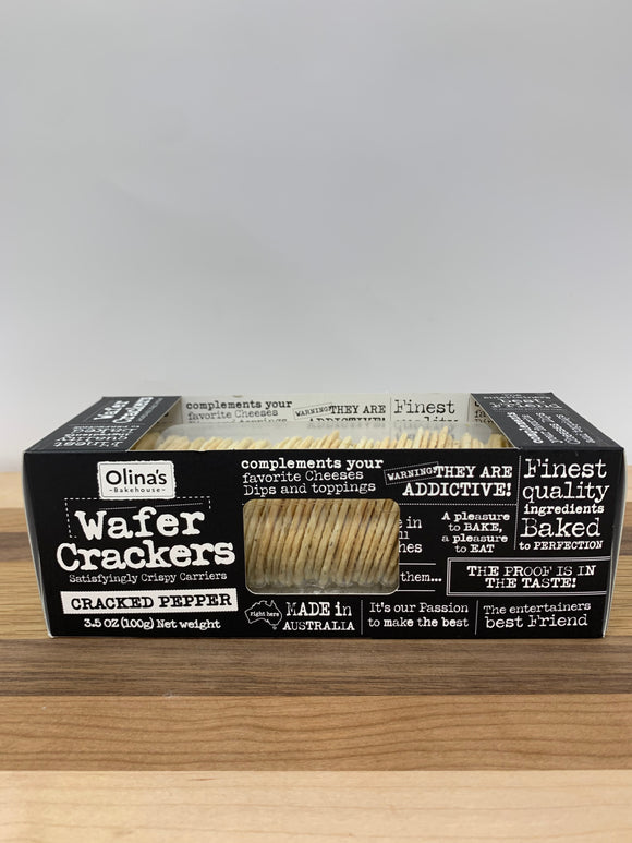 Olina's Wafer Crackers with Cracked Pepper