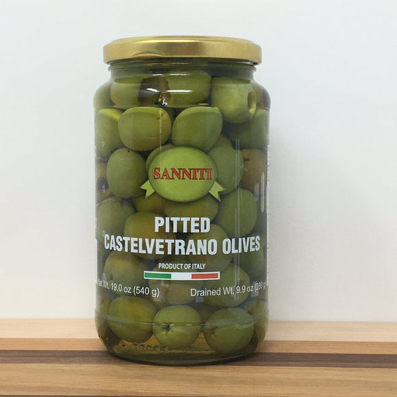 Sannitti Pitted Castelvetrano Olives