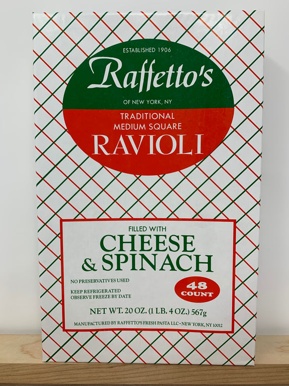 Raffetto's Cheese & Spinach Ravioli