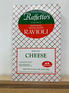 Raffetto's Cheese Ravioli