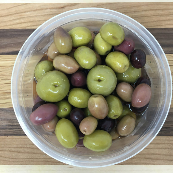 Spanish Mix Olives w/ Pits ($10.99/lb.)
