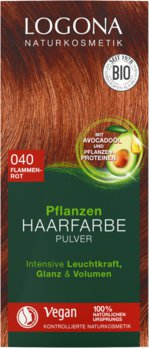 Herbal hair color powder 040 flame red