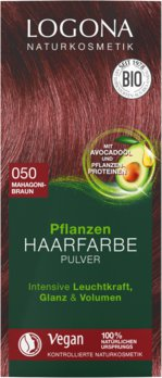 Herbal hair color powder 050 mahogany brown