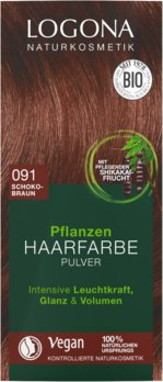 Herbal hair color powder 091 chocolate brown