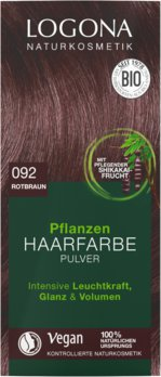 Herbal hair color powder 092 reddish brown
