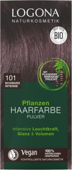 Herbal hair color powder 101 black intense