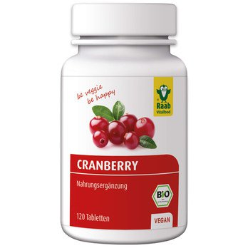 Organic cranberry tablets