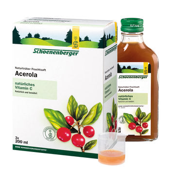 Acerola, natural cloudy fruit juice (organic)
