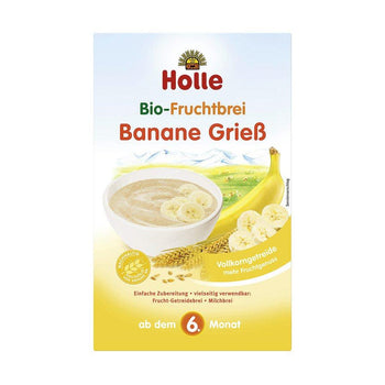 Holle Organic Fruit Porridge Banana Semolina, 250g