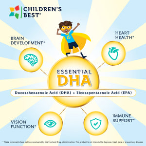 Essential DHA for Kids Non-GMO Fish Oil Concentrate - 60 Softgels