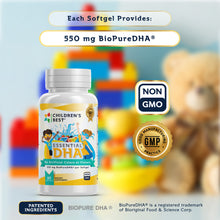 Load image into Gallery viewer, Essential DHA for Kids Non-GMO Fish Oil Concentrate - 60 Softgels
