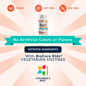 Digestive Enzymes for Kids - Vegan - 90 Tablets