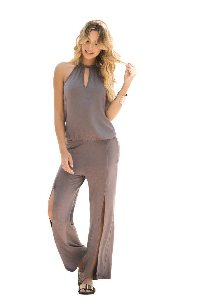 Gray Lightweight Jumpsuit By Mapale