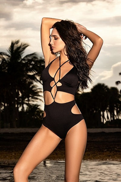 CAPTIVATING ONE PIECE BLACK MONOKINI