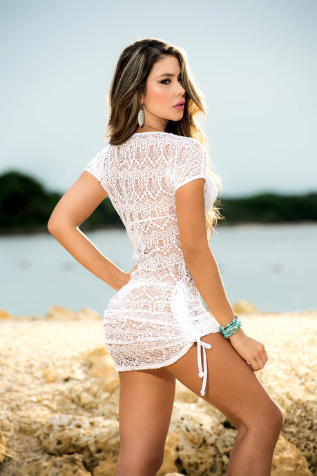 Ultra Sexy White Beach Cover-Up Dress
