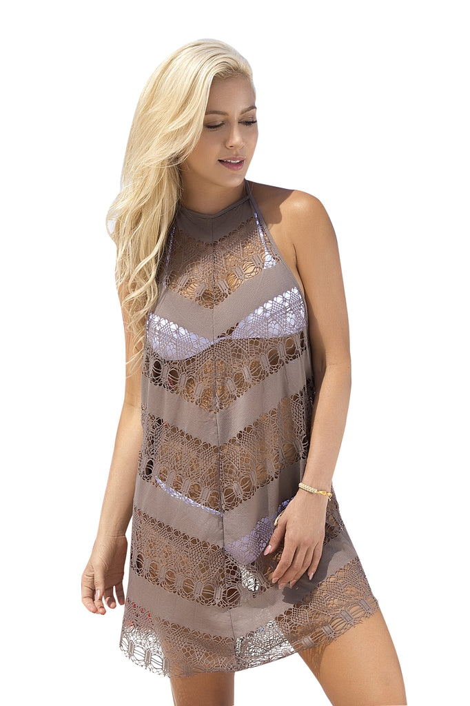 Crochet Netting Beach Cover-Up By Mapale