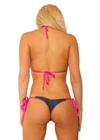 Tie Side Beautiful Denim Bikini Set