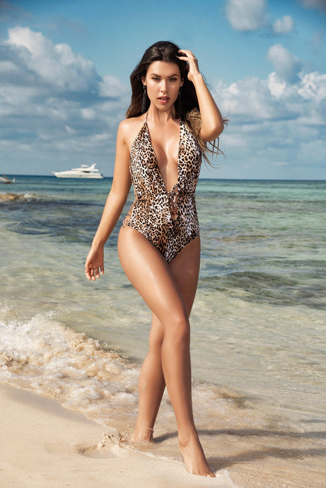 SEXY ONE PIECE LEOPARD SWIMSUIT