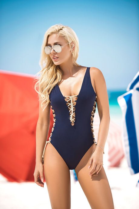 ONE PIECE NAVY BLUE SWIMSUIT