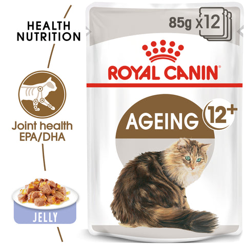 ROYAL CANIN Ageing 12+ Senior In Jelly Wet Cat Food 12x 85g - ZARDS PET SUPPLIES