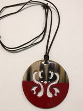 Load image into Gallery viewer, Horn & Lacquer Pendant 13092