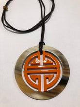 Load image into Gallery viewer, Horn & Lacquer Pendant 13077-O