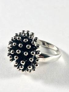 Sterling Silver Cluster Ring SR00008