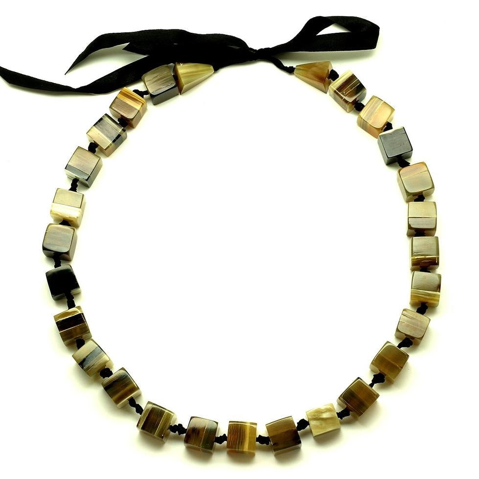 Horn Beaded Necklace 13448