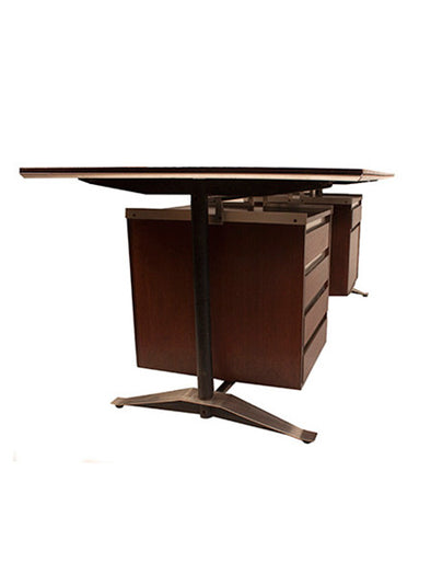 alberto roselli wood desk table design furniture 1960 arflex