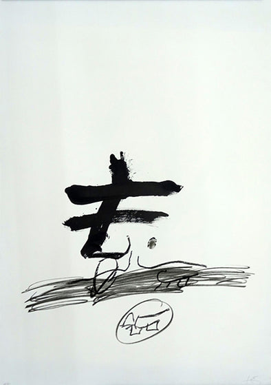 Antoni Tapies dessin art contemporain drawings prints