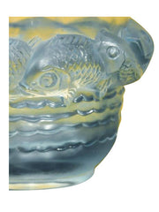 rene lalique art deco piriac vase fishes decorative glass antiques